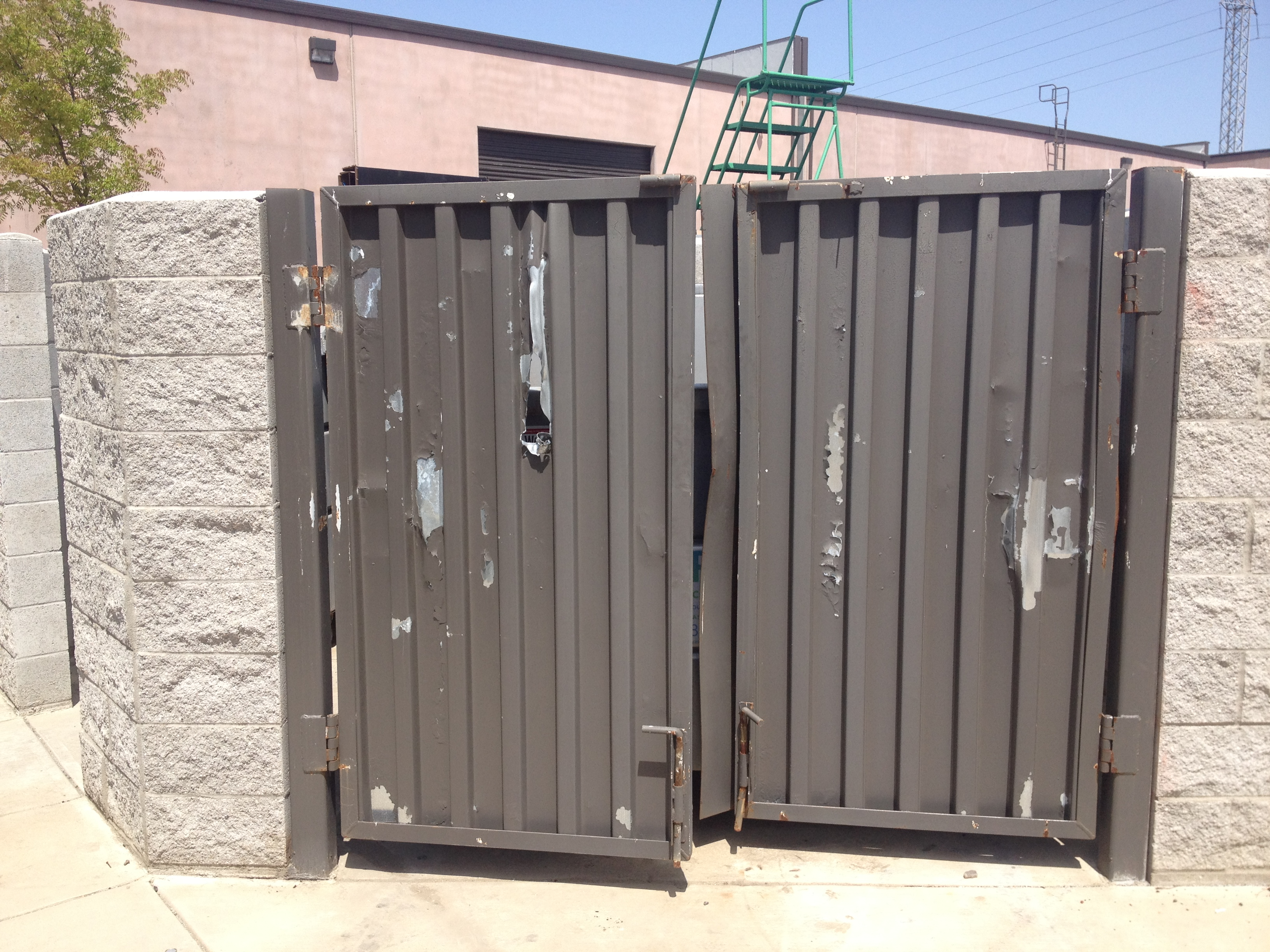 Trash Enclosure Gate Repair Eagle Welding Service